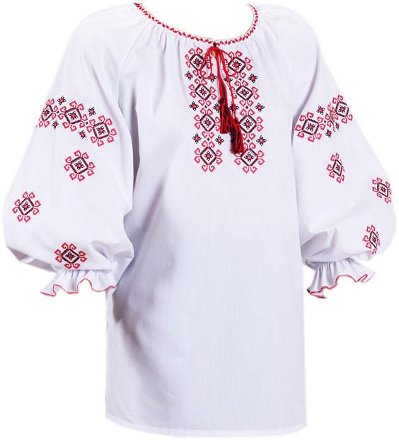 украинская вышиванка с коротким рукавом