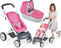 Детская прогулочная коляска SMOBY 3в1 MAXI COSI