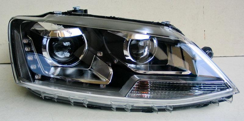 Передние Volkswagen Jetta Mk6 альтернативная тюнинг оптика фары передние на VOLKSWAGEN Фольксваген Jetta Mk6