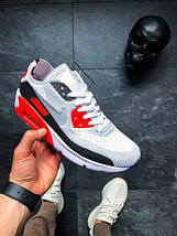 Мужские кроссовки Nike Air Max 90 Flyknit Infrared, фото 3