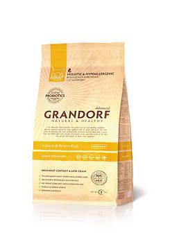 Сухой корм Grandorf Living Probiotics 4 Meat&Brown Rice 4 вида мяса для стерилизованных кошек, 0,4 кг