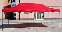 Шатер раздвижной, палатка, беседка, павильон, тент, 3х6(3*6), 30 кг, каркас черно-серый молотковый