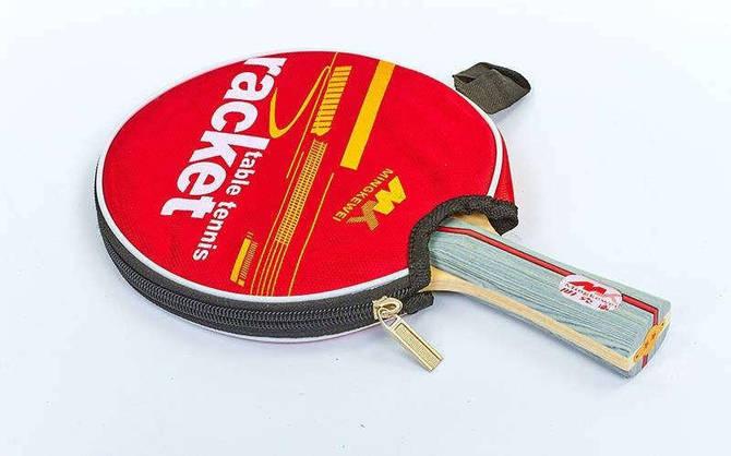 Ракетка для настільного тенісу 1 штука в чохлі MK 2STAR (деревина, гума)