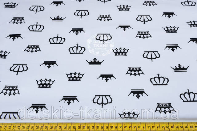 Ткань бязь с изображением корон