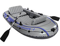 Надувная четырёхместная лодка Intex 68324
