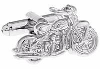 Запонки мотоцикл для мотоциклистов байкеров серебристый ретро , фото 1