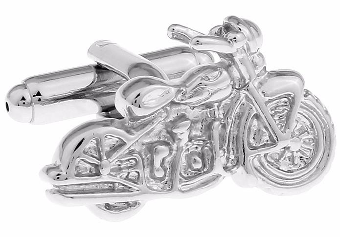 Запонки мотоцикл для мотоциклистов байкеров серебристый ретро