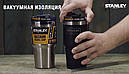 Термокружка з соломинкою Stanley Quencher Matte (0.6 л), чорна, фото 4