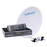 Комплект для сутникового ТВ на 3 спутника «Горыныч» SD+