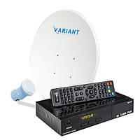 Комплект для сутникового ТВ на 3 спутника «Горыныч» SD
