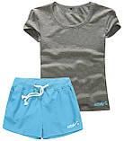 Шорти жіночі і футболка, комплект. Розміри 40-56.Мод. М-28.., фото 4