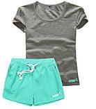 Шорти жіночі і футболка, комплект. Розміри 40-56.Мод. М-28.., фото 5