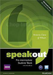 Speakout Pre-Intermediate Students Book with DVD (учебник/підручник с диском)