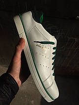 Мужские кеды Adidas Stan Smith.Кожа,былые с зеленым , фото 2