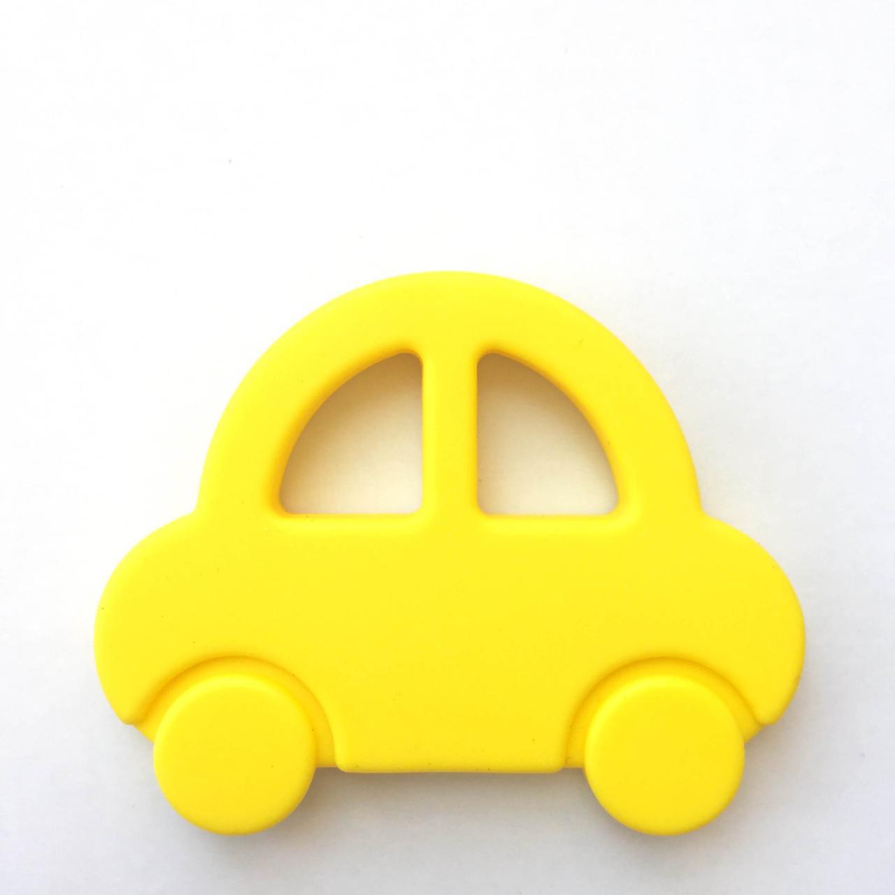 Машинка (желтая) силиконовый прорезыватель для зубов