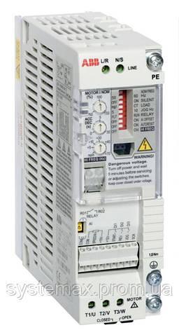 Преобразователь частоты ABB ACS55-01N-02A2-2 (0,37 кВт, 220 В), фото 2