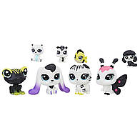 Лител пет шоп набор из 8 ми зверюшек черно - белая серия 4 Littlest Pet Shop Black & White Pet Friends