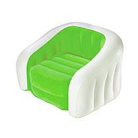 Надувное кресло Intex Cafe Club Chair 68571 зеленое