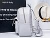 Женский рюкзак серый с нашивкой цветы, фото 5