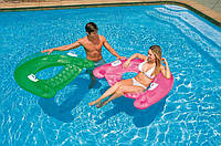Надувное кресло для воды с ручками «Sit-n-Float» / Надувное водное кресло / Кресло надувное для пляжа и воды