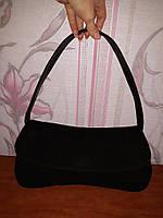 Шикарная черная сумка замша с кожей Beverly Feldman