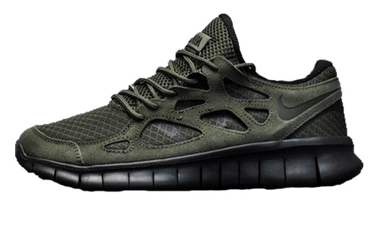 1b92d826 Мужские кроссовки Nike Free Run 2 Khaki (Реплика ААА+) - Rocket Shoes -