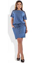 Сукня жіноча з гіпюром розміри від XL ПБ-130