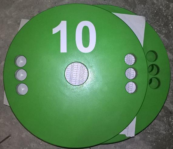 Олимпийский блин для штанги и гантелей 10 кг