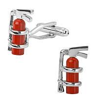 Запонки огнетушитель для пожарников, пожарных, охрана труда, безопасность