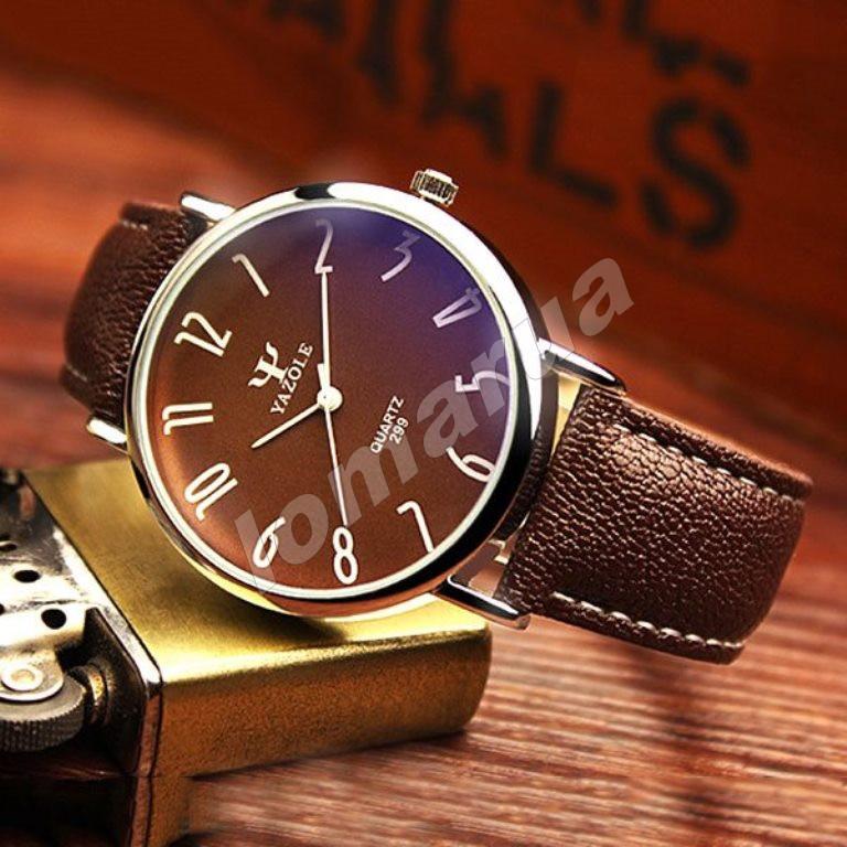 Мужские кварцевые часы Yazole 299 Brown