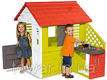 Детский домик игровой Smoby 810702 с кухонькой