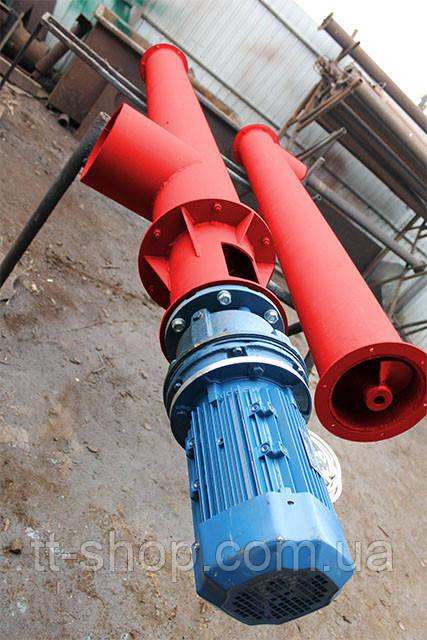 Шнековый питатель для цемента ø 270 мм, 7 м.