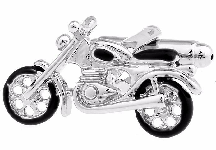 Запонки Мотоцикл для байкеров и мотоциклистов, спортсменов, любящих скорость и независимость