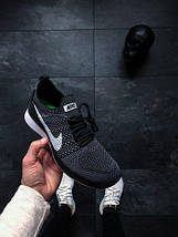 Мужские кроссовки Nike Air Zoom Mariah Flyknit Racer (Black / White — Dark Grey), фото 2