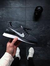 Мужские кроссовки Nike Air Zoom Mariah Flyknit Racer (Black / White — Dark Grey), фото 3