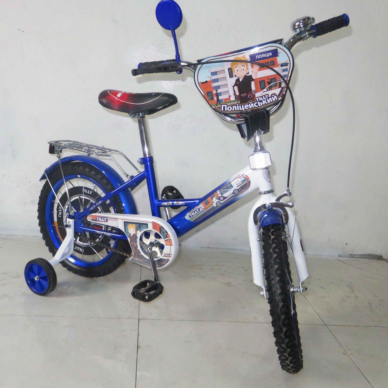 Велосипед двухколесный Tilly Полицейский 16'' T-216211