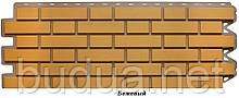Фасадна панель «Клінкерна цегла» Жовтий