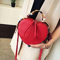 Женская сумка Сердце JingPin красная, фото 1