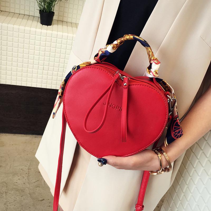 Женская сумка Сердце JingPin красная