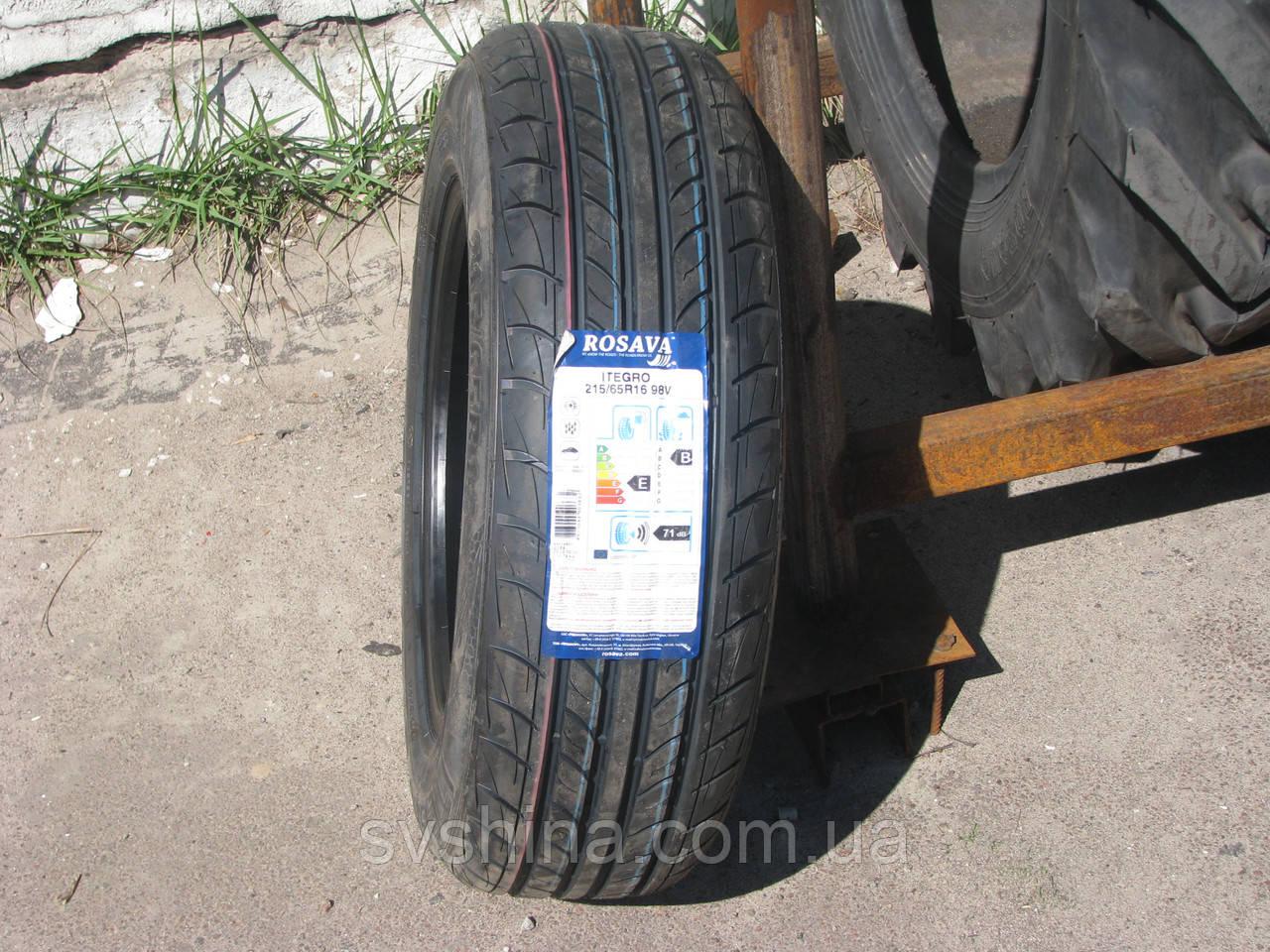 Літні шини 215/65R16 Росава ITEGRO, 98V