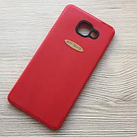 Матовый красный чехол для Samsung Galaxy A7 A710 2016 года силиконовый