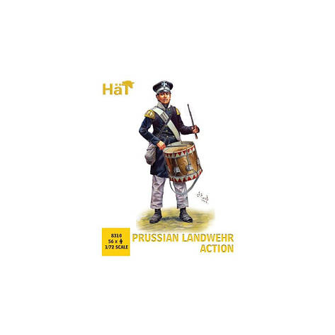 PRUSSIAN LANDWEHR ACTION. 1/72 HAT 8310, фото 2