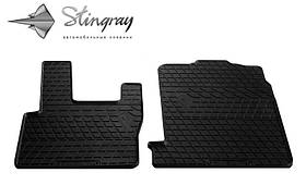 Резиновые передние коврики в салон DAF XF95 2002-2006 Stingray 1039012