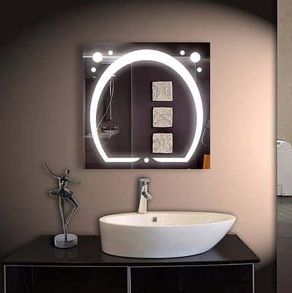 Зеркало для ванной LED ver-3038 800х800, фото 2