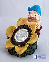 Газонный светильник на солнечной батарее Lemanso CAB85 гном, фото 1