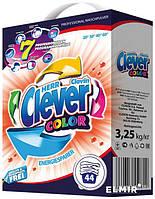 Стиральный порошок Clever COLOR 3.25 кг  К/К