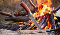 Классический охотничий нож Кленовый лист, из дамасской стали, сослужит Вам верную службу на охоте и рыбалке