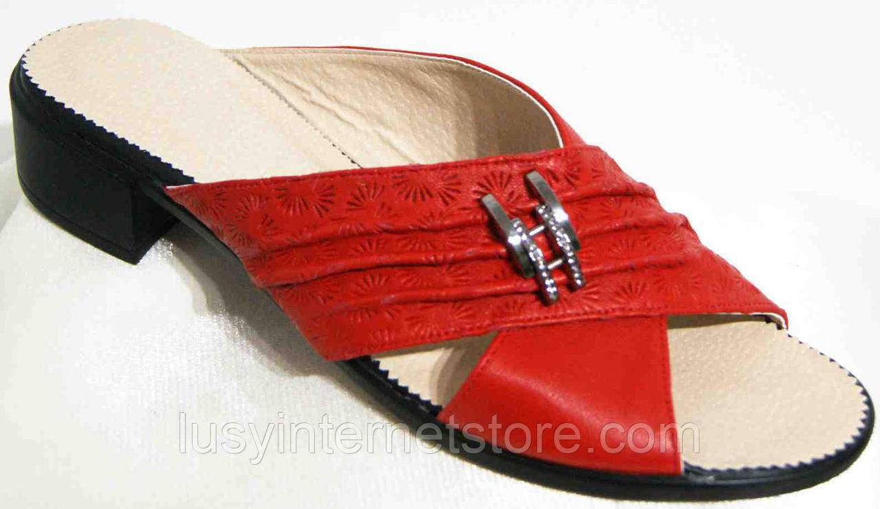 Сабо женские кожаные на каблуке от производителя модель МИ5099-11