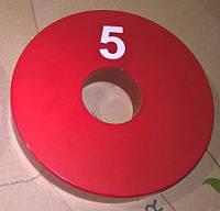 Олимпийский блин для штанги и гантелей 5 кг (олімпійський млинець диск утяжелитель), фото 1