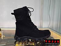 Берцы летние облегченные на кроссовочной подошве  BLACK (100% хлопок), фото 1